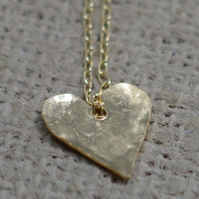 TEXTURED HEART PENDANT - GOLD FILLED