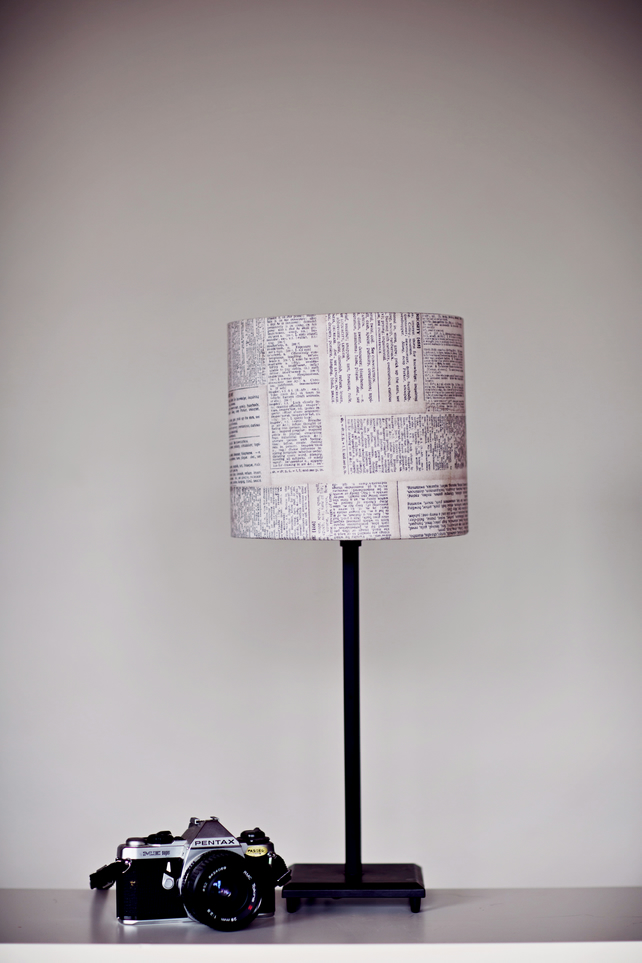 20cm Dictionary lampshade, black white lamp, fabric lampshade,