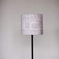 25cm Dictionary lampshade, black white lamp, fabric lampshade,