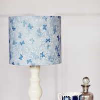Blue butterfly lamp, butterfly lampshade, lampshade, lamp shade, table lamp