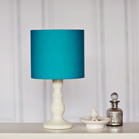 Turquoise Lampshade, Turquoise lamp shade, Teal lampshade, drum lampshade