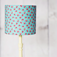 Blue lampshade, rose lamp shade, red rose lamp shade, lampshade, lamp shade