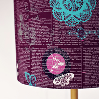 HALF PRICE SALE, 25cm Purple lampshade,, lampshade, lamp shade, drum lampshade