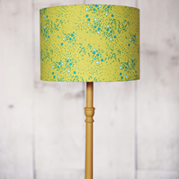 Green lampshade, green lamp, drum lampshade, fabric lampshade, lampshade
