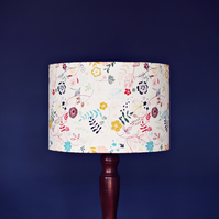 25 cm cream floral lampshade, luminous field lamp shade, nature lamp