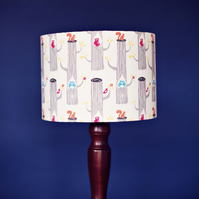 20 cm Woodland friends lamp, cream nursery lampshade, nursery lamp shade