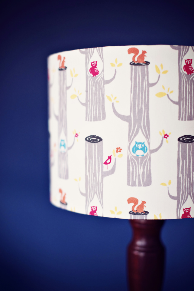 30 cm Woodland lampshade, nature lampshade, kids bedroom lamp