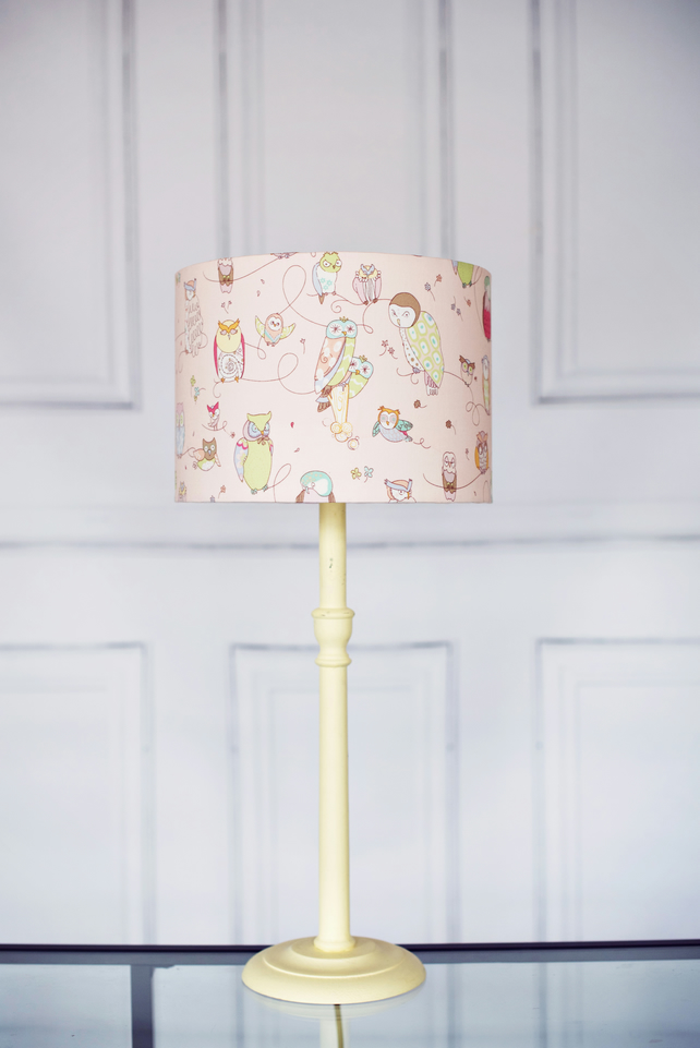 30 cm Pink owl lamp shade, lampshade, lamp shade, owl lampshade, owl lamp