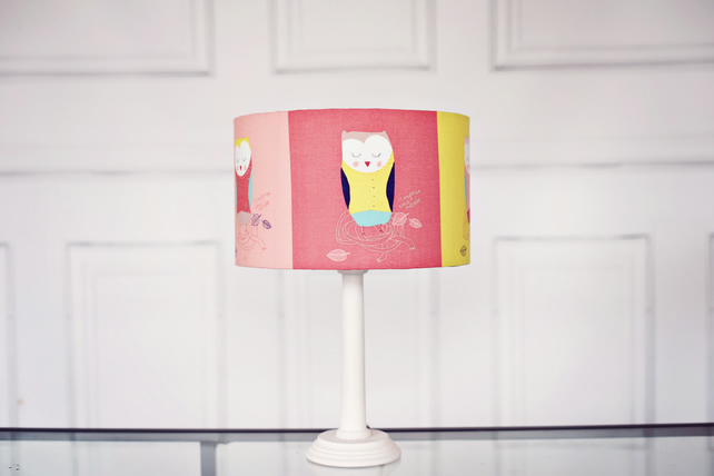 20 cm Owl Lampshade, Children's Lampshade, Kids Owl Shade, Nursery Lamp shade