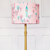 20 cm Dragon girl lampshade, pink lamp, childrens lampshade, kids lampshade