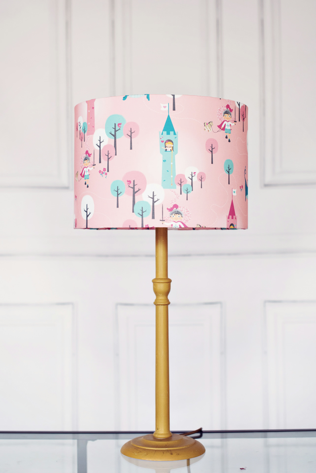 30 cm Dragon girl lampshade, pink lamp, childrens lampshade, kids lampshade