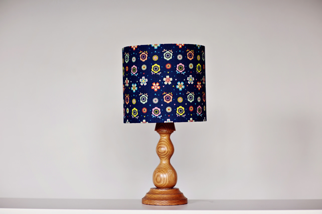 HALF PRICE SALE, 20cm blue floral lampshade, blue floral home decor