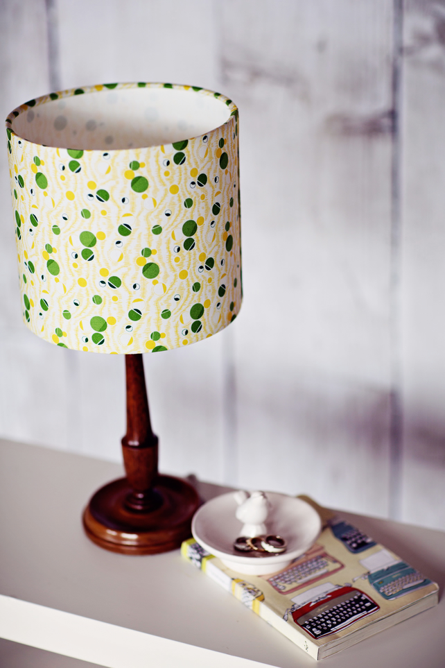 20cm green yellow lampshade, retro lamp shade, table lamp