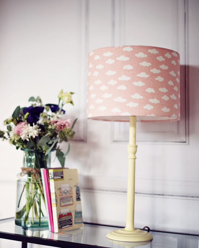 20 cm pink cloud lampshade lampshade nursery folksy 20 cm pink cloud lampshade lampshade nursery lamp shade nursery decor mozeypictures Images