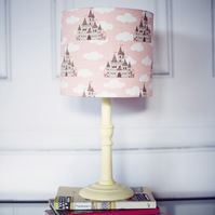 20 cm Pink castle lampshade, lampshade, nursery lamp shade, girls bedroom decor