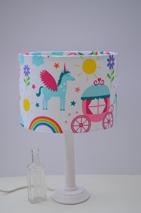 Rainbows and Unicorns Girls Lamp Shade 30cm