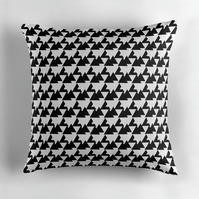 Monochrome Triangle's Cushion Cover 16 inch