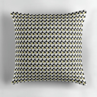 Gold and White Triangle's Cushion Cover 16 inch