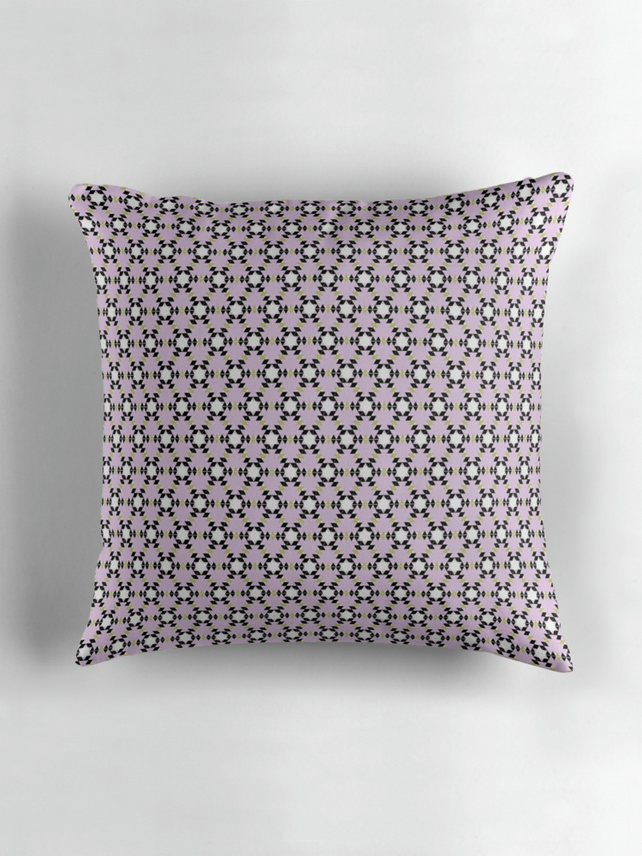 Pink Geometric Cushion Cover 16 inch