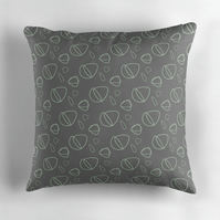 Dark Grey and Mint Cushion Cover 16 inch