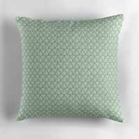 Mint Green and Grey Pattern Cushion Cover 16 inch