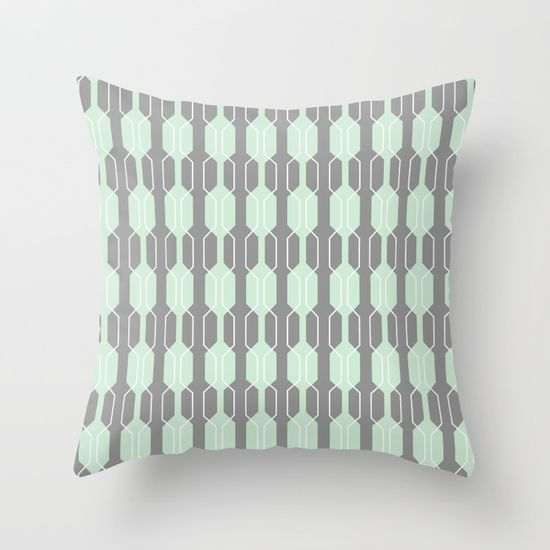 Grey and White Lines Cushion Cover 16 inch
