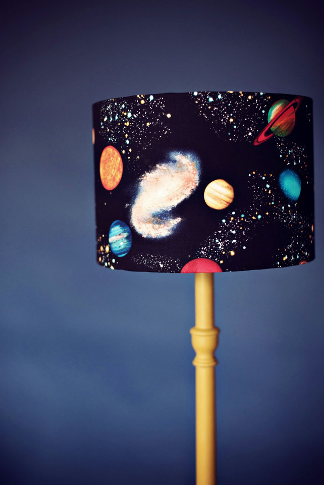 20cm Black Planets Space Lampshade for bedroom or nursery