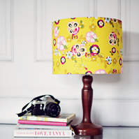 20cm Yellow Floral Lamp shade