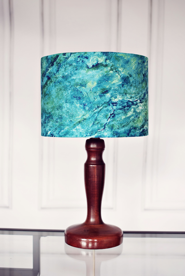 20cm Blue Marbled lamp shade