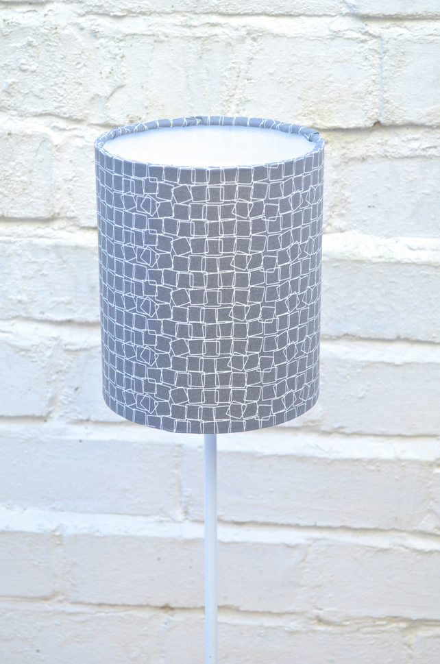 20cm Charcoal Grey Geometric Lamp shade