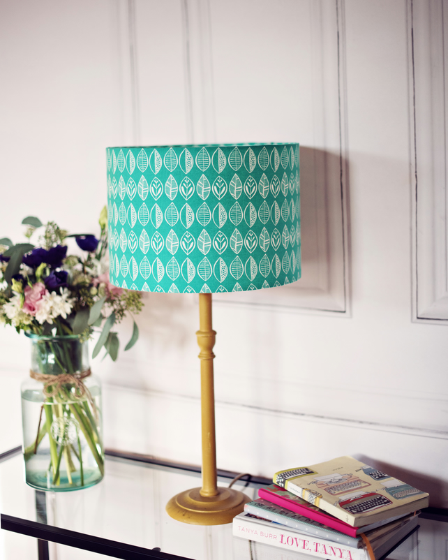 30cm Green scandi lampshade