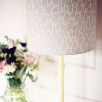 30cm Grey Scandinavian Lampshade