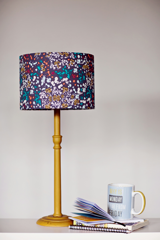 30cm mulberry floral lampshade