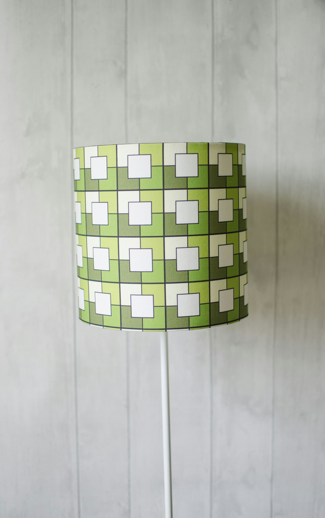 20cm Green Geometric Lamp shade