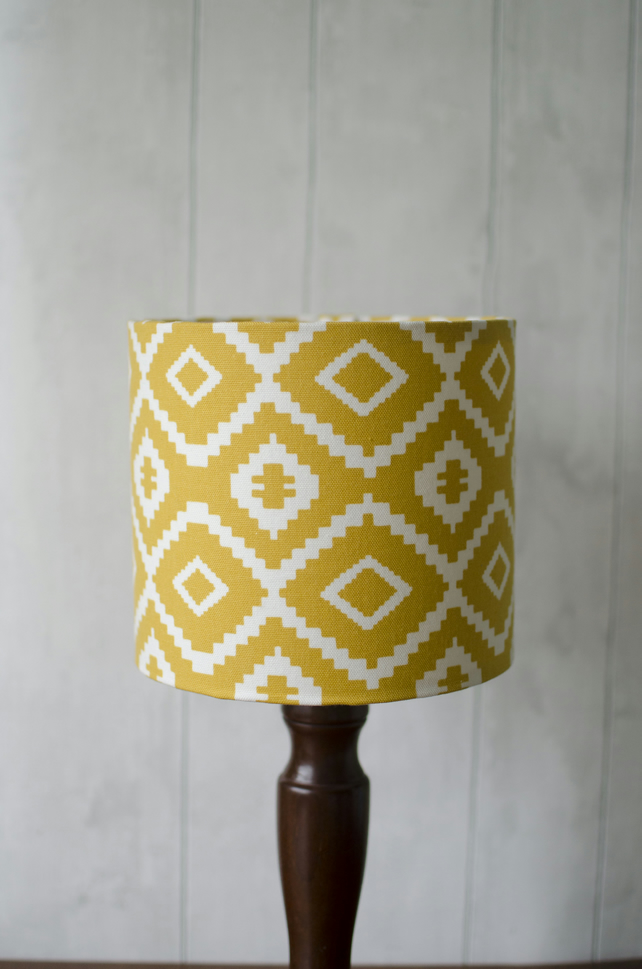 30cm Saffron Yellow Aztec lamp shade