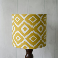 20cm Saffron Yellow Aztec lamp shade