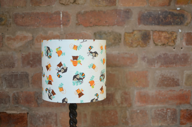20cm Squirrels Brown and Orange Lampshade
