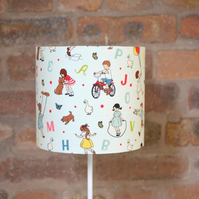 Light Blue ABC Alphabet Nursery Bedroom Lampshade 20cm