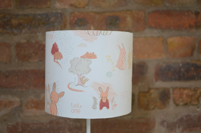 Pale Pink Bunny Rabbits Lampshade 20cm