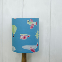20cm Blue Aeroplane Lampshade, Planes lamp, Boys nursery, Blue lampshade