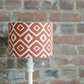 30cm Rust Aztec Lampshade, Brown Lampshade, Orange Lamp shade