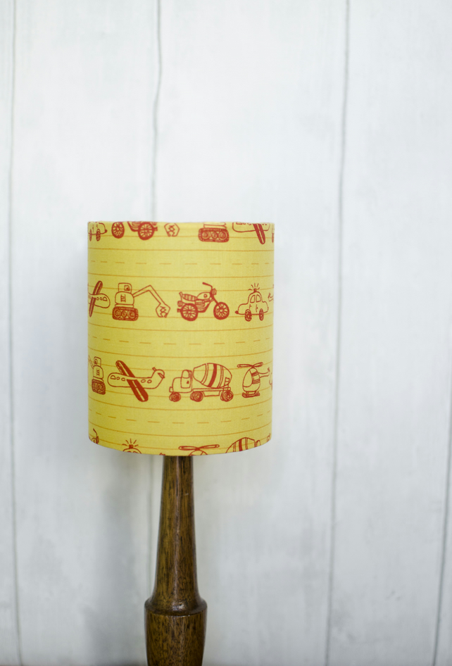 30cm yellow cars nursery decor, yellow nursery lamps, nursery lamp, boys bedroom