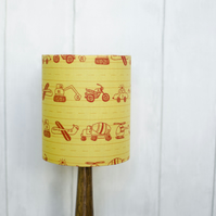 20cm yellow cars lampshade, yellow nursery decor, nursery lamp, boys nursery
