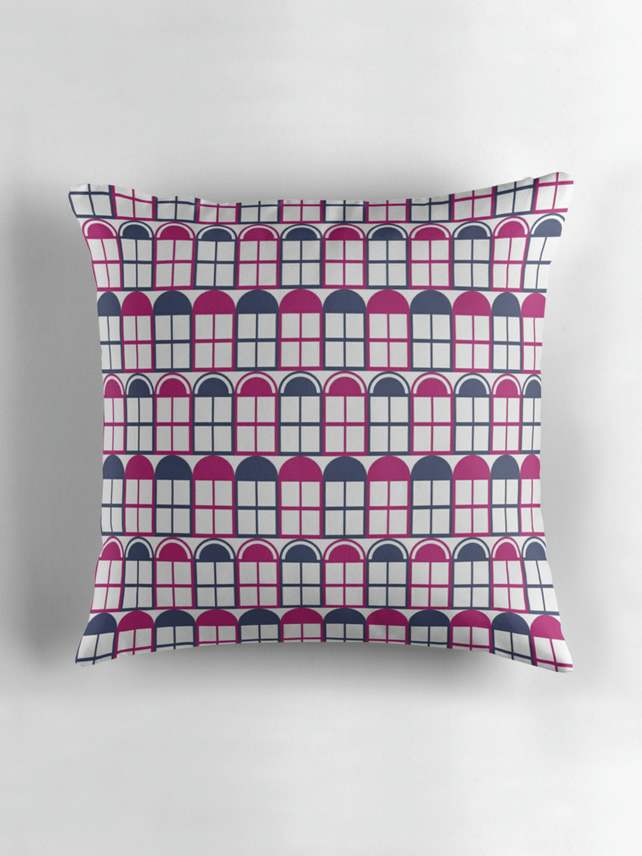 16 x 16 Purple Cushion Cover, Filled cushion, Geometric cushions, Sofa Pillow