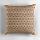 16 inch Copper and White Diamonds Cushion