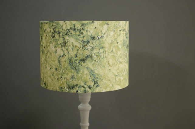 20cm Green marbled lampshade