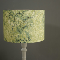 30cm Green marbled lampshade