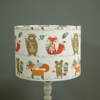 20cm Foxes lampshade