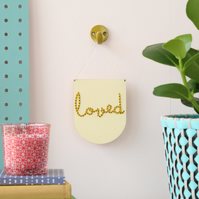 'loved' Mini Script Embroidery Board Kit
