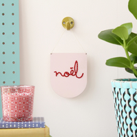 'noel' Mini Script Embroidery Board Kit